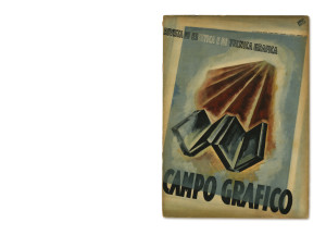 """""""Campo Grafico"""" n. 2, Febbraio 1933. Copertina di Carlo Dradi e Attilio Rossi (con fotolitografia di Alfredo De Pedrini)."""